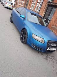 2005 audi a6 c6 2 0 tdi se matt blue modified extras in