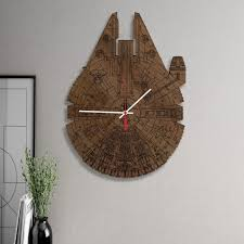 accessories wars millennium falcon unique wooden wall clocks