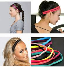 sports hair bands 1 pcs fashion modern 10 colors elastic headband softball anti slip