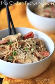 Main Dish Chicken Recipes - real men cook thai chicken peanut noodles thai food