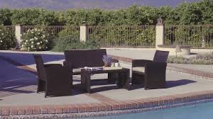 Best Wicker Patio Furniture - best choice products outdoor garden patio 4pc cushioned seat
