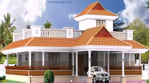 House Plans Wrap Around Porch Kerala Style 3 Bedroom House Plans Single Floor Youtube With Wrap