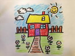 tutorial scenery children step by youtube how easy house drawing