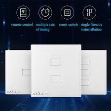 wireless wall light switch broadlink tc2 wireless 2 1 3 gang remote control app switch wifi