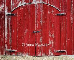 Barn Door Photography by 8x10 Red Barn Door Fine Art Photography Print Americana Home