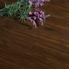 12mm V Groove Laminate Flooring High Gloss V Groove Click Locking 12mm Scherzo Dark Brown Walnut