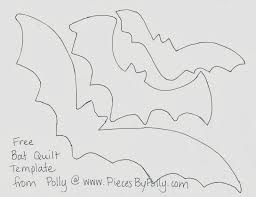 Bat Template Halloween by Pieces By Polly Bats Bats Bats Modern Halloween Triangles Quilt