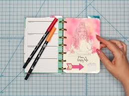 your own planner diy planner dashboard using tombow dual brush pens brown paper