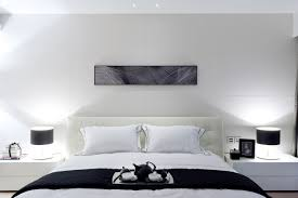 white modern master bedroom with use arrow keys to view more