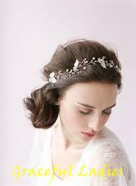 1950s hair accessories sparkle hair vine petals blossom wedding headband