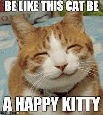 Be Happy Memes - happy cat smiling imgflip