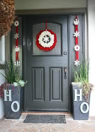 front doors print holiday front door decoration 114 christmas