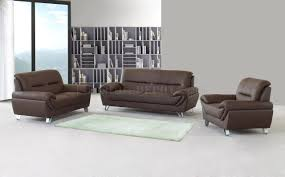 Modern Furniture Depot by Brown Full Leather Modern Sofa Loveseat U0026 Chair Set W Options