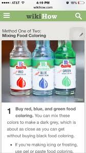 how do companies make black food dye quora