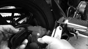 how to replace rear brake pads on yamaha fz6r 2009 youtube