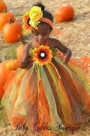 a fall tutu dress for your orange brown newborn princess