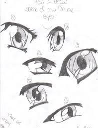 how i draw anime eyes by xxgot milkxx on deviantart