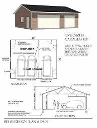 garage plan 3 cars basic one story garage plans by behm 1080 1 36 x30 behm
