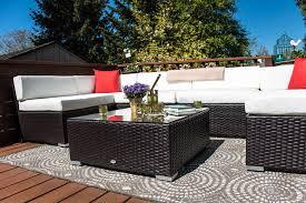 Rattan Patio Furniture Sets - outsunny 7pc outdoor patio wicker rattan sectional sofa aosom com