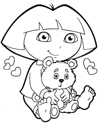 free coloring pages dora coloring page