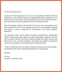 example recommendation letter bio example