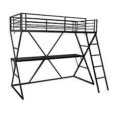 lit mezzanine noir avec bureau lits superposés chambre enfants lits avec rangements alinéa