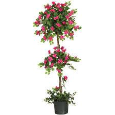 nearly 5 ft mini bougainvillea topiary silk tree 5228