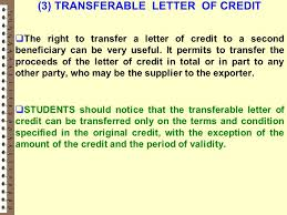 Letter Of Credit Validity ch1 international trade contracts ppt