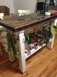 Kitchen Island Ikea Bake And Baste How To Stain And Finish A Rustic Kitchen Island