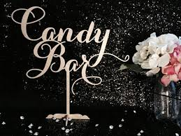 wedding candy table candy bar table sign candy bar sign buffet sign candy
