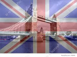 London Flag Photos Tower Bridge And British Flag Illustration