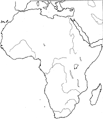 Africa Map Rivers by Gwa Social Studies History
