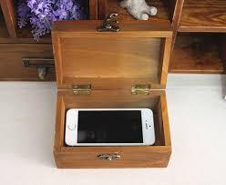 zakka wooden storage box with lock eiffel tower rectangle small