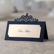 diy wedding place cards blue place card table name card number wedding invitaions cards