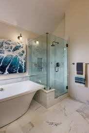 photos hgtv glass and white marble shower stall in transitional