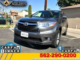 toyota credit bank used 2015 toyota highlander le in long beach