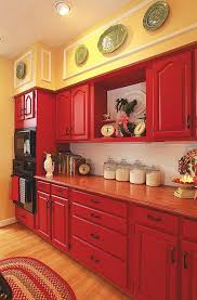 pictures of red kitchen cabinets it s here my kitchen featured in country woman magazine country