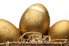 golden easter eggs stock photo image of gold seasonal 13478464