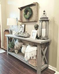 how to decorate an accent table farmhouse accent table vintage wooden rustic entryway inviting and