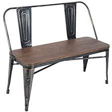 amazon com merax stylish distressed dining table bench with