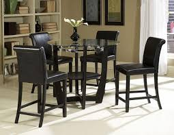 glass counter height table sets modern round glass dining table rochelle two tone counter height set