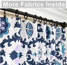 Blue Ikat Curtain Panels Two Navy Blue Curtain Panels Aqua Purple Curtain Lavender