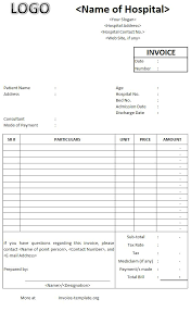 doc 6151003 hospital invoice template u2013 hospital invoice