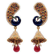 peacock design earrings designer earrings manufacturer from surat