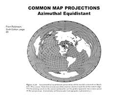 Azimuthal Map Common Map Projections Ppt Video Online Download
