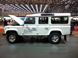 new land rover defender 2013 geneva live land rover electric defender research vehicle