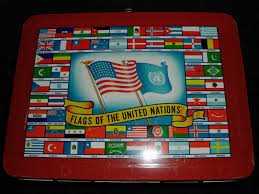 United Nation Flag 1954 Flag O Rama Flags Lunch Box Greatest Collectibles