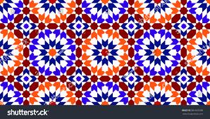 moroccan pattern mosaic tiles islamic ornaments stock vector
