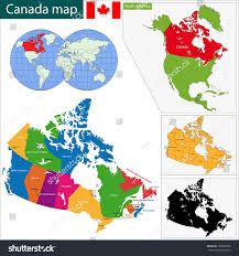 Blank Map Of Canada With Capital Cities colorful canada map provinces capital cities stock vector