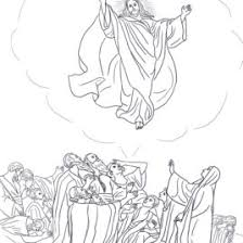 bible printables easter coloring pages 19 u2013 jesus ascends into